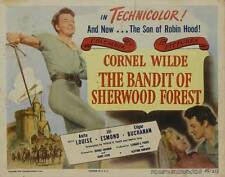 THE BANDIT OF SHERWOOD FOREST Movie POSTER 22x28 Half Sheet B Selma Erge  Mehmet