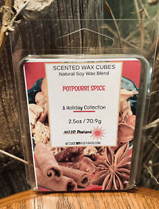 Potpourri Spice- Christmas Scented Wax Cubes- 2.5oz - Natural Soy Wax Blend