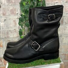 NIB Frye Women's Veronica Short Leather Boots Black Buckle Slouch Pick Size