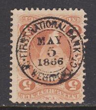 US Revenue (Scott R27c) 1862 First Issue 5c orange INLAND EXCHANGE S.O.N. Used