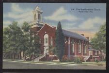 Postcard PLANT CITY Florida/FL  1st First Presbyterian Church view 1930's