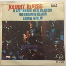 """JOHNNY RIVERS VOL. IV -SEVENTH SON / STOP IN THE NAME OF LOVE- 7"""" EP PS ROCK"""