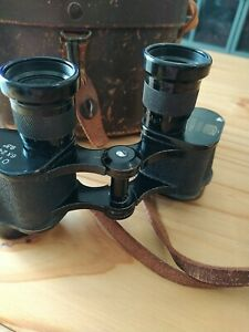 A Vintage Pair Of Post Ww2  Nikko Orion 6 X 24  Binoculars And Case Excellent...