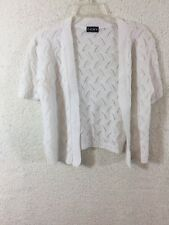 Ceny Girl Knit Top White Crochet Cardigan Sweater Top Shirt Sz Large