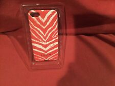 NEW Coach Zebra Print iPhone 5/5S Hard Case Cover Bright Coral 64700B $38.00 new