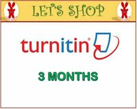 Turnitin Student Account Unlimited Word (3 MONTHS)- Plagiarism Checker ONLY