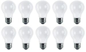 60w Light Bulbs ES GLS E27 Frosted Edison Standard Screw in Pearl Lamps x 10