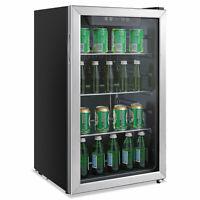 Alera 3.4 Cu. Ft. Beverage Cooler Stainless Steel/Black RFBC34