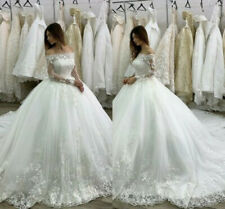 d016New White/ivory lace  Wedding dress Bridal Gown custom size2 4 6 8 10++