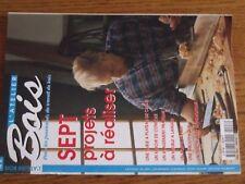 $$$ Revue L'atelier Bois N°8 Table plateau cheneMiroir consoleMeuble langer