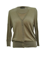 ** Strenesse ** Gabrielle Strehle ** Light Brown Cardigan ** 36 / Uk 8 **