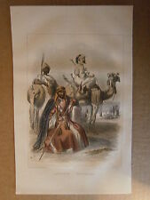 Gravure 19°  Costumes Abyssin Egyptiens égypte Abyssinie