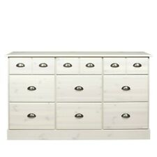 Terra Pine / White Stain 6+3 Chest Of Drawer Extra Wide Large