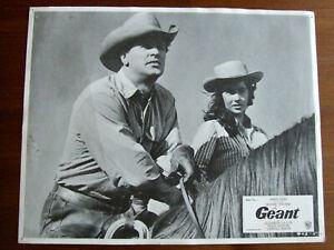 ELIZABETH TAYLOR ROCK HUDSON GEANT PHOTO D'EXPLOITATION 1956 23X29CM