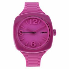 NIXON Women's A265-644 Plastic Analog Pink Dial Watch