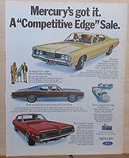 1968 magazine ad for Mercury - Premiere Coupe, Park Lane, Dan Gurney Cougar