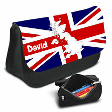 UK Flag Personalised Pencil Case Game School Bag Kids Stationary - 11