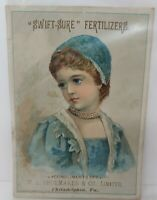 Swift Sure Fertilizers Victorian Trade Card M L Shoemaker Philadelphia PA 1888