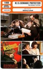 FICHE CINEMA : M15 DEMANDE PROTECTION - Mason,Schell,Lumet1966 The Deadly Affair