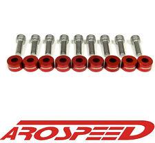 AROSPEED RED CNC BILLET 8MM HEADER MANIFOLD BOLT & CUP WASHER KIT
