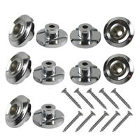 NEW 10PCS Chrome Bass Guitar String Retainers Tree String Guide Metal & Screws