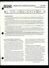 Original Factory Rane AC 22B Active Crossover Owner's/Service Manual