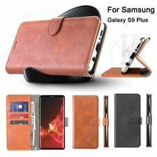 For Samsung Galaxy S9 Plus Leather Wallet Card Pouch Stand Case Cell Phone Cover