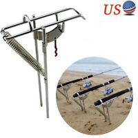 Foldable Metal Plastic Fishing Rod Pole Holder Support Stand Bracket Gracious