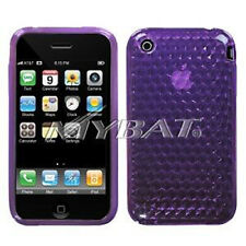 Purple Cube Candy Skin Case for Apple iPhone 3G 3GS