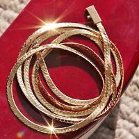 "Oritalia 14k 585 yellow gold necklace 30.0"" Italian herringbone link chain 10.8g"