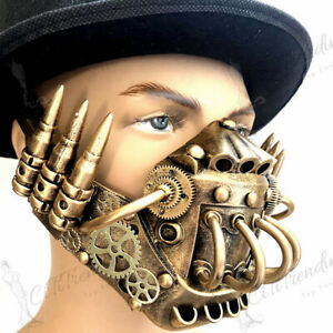 Steampunk Respirator Gas Mask Jaw Mouth Mask Bullet Masquerade Halloween Party