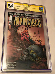 Invincible #100 Variant Comic CGC 9.0 SS Signed x3 Kirkman, Ottley, & Silvestri