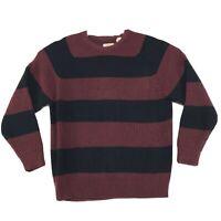Weatherproof Vintage Rib Knit Acrylic Sweater Mens XXL 2XL Wide Stripes Pullover