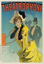 AP90 Vintage French Paris Theatrophone Cheret Advertisement Poster Card Print A5