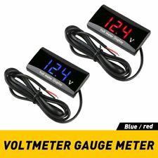 12V Led Digital Voltmeter Voltage Meter Battery Gauge For Car Motorcycle Us