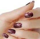 Brown Cinnamon color Glitter wraps real nail polish strips M-34 street art