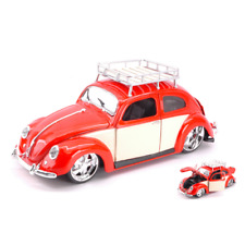 Modellino Die Cast Auto Stradali VW BEETLE CABRIO 1972 WHITE CREAM 1:43 Lucky Die Cast