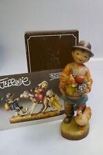 "Anri ""Season's Bounty"" 6"" Hand Carved Wood Figurine By Ferrandiz - Mint in Box"