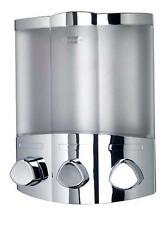 Automatic Euro SOAP DISPENSERS Liquid Steel Touchless Pump Sensor Trio Chrome