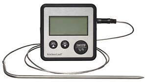 Kitchen Craft Digital Cooking Thermometer Meat Oven Probe and Electronic Timer
