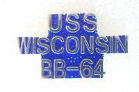US USA USN Navy USS Wisconsin BB-64 Military Hat Lapel Pin