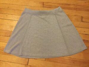 "Theory Silver ""Light Grey"" Mini Skirt, Size Large, NWT!"