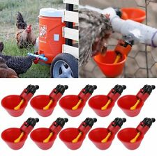 10 Pcs Feed Automatic Bird Coop Poultry Chicken Fowl Drinker Water Drinking Cups