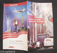 Depliant DHL Internat worldwide express tutto il mondo a portata di mano Rozzano