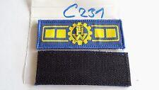 THW Rangabzeichen gelb auf hellblau Vizepräsident 2Stück +Klett (c231+)je3,90