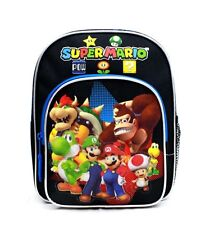 Nintendo Super Mario Boys & Girls MINI Canvas Black School Backpack