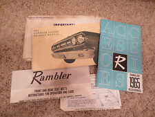 1965 Rambler Owner's Manual, Seatbelt Instructions, and Accessories Brochure