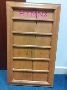 Church chapel Hymn number board RSPCA Middlesex/Herts
