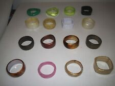 / Bracelets Different Colours And Styles (A) Job Lot Of 16 New Chunky Bangles