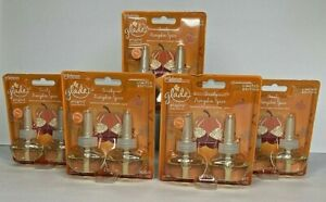 LOT of 5: Glade Plugins Refills Toasty Pumpkin Spice Scented Oil Refills Plugins
